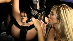 A horny mistress gets some fresh meat slave to train and use