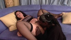 Chubby Latina Aurora Cortez likes them big, black, hard and fucking both ends