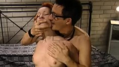 Cock-loving slut Tanya gets nailed by a handsome guy on the bed