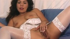 Hot Asian Milf Fumi Puts On Her Sexy Lingerie And Fingers Her Snatch