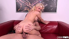 Margo bounces on that dick with joy, eager to bring pleasure to her whole body