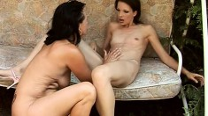 Two Insatiable Babes Play With Each Other Before Getting Into A Threesome