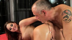 Horny starlets Betty and Cathy love to get their pussies worked