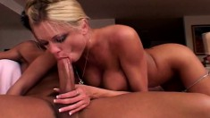 Striking blonde with huge boobs gets her sweet anal hole pounded rough