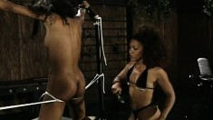 Black Teens Get Tied Up In The Dungeon And Get The Lash Of A Whip