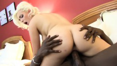 Mesmerizing blonde Jenna Ivory has a hung black man plowing her pussy
