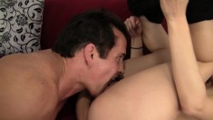 Sultry Alyssa Gadson gets her hair pulled and her pussy pounded hard