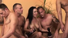 Cury Young Babe Gets Fucked In The Ass While Her Friends Watch