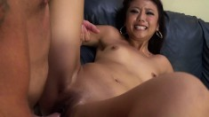 Oriental nympho Miko Dai hangs on for a long pole and a wild drilling