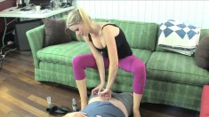Sensual blonde with sexy feet Vanessa Vixon knows how to please a cock