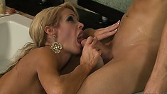 Busty hoe is never going to drop this cock out of her sweet mouth