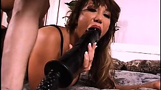 This Asian MILF loves extreme anal destruction with huge toys