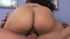 Truly attractive girl gets her dripping wet gash licked and dicked