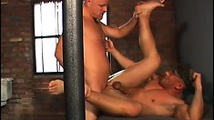 These horny gay prisoners buck the military system and fuck each other in the cell