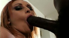 Young babe Donna spreads her ass cheeks for a big black dick to enter
