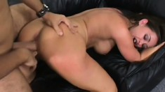 Simone Riley goes ape in a casting scene with his hard probing pecker