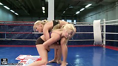 Nude Fight Club presents Nikky Thorne vs Jessie Volt taking it to the mat