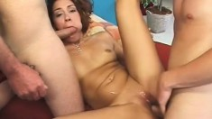Barely Legal Teen With An Amazing Ass Gets Her Holes Pounded Raw