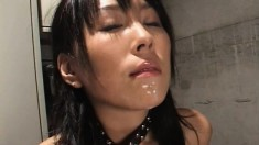 Kirari Koizumi gets her pussy drilled deep and swallows a big cumload