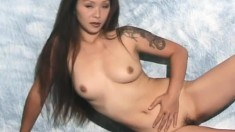 Oriental beauty Izumi shows off her lovely boobs and her sweet ass