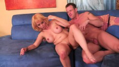 Bodacious Sophia Mounds has a young stud fulfilling her sexual desires