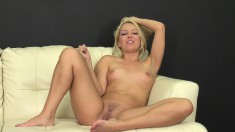 Awesome Aaliyah Love gets naked to toy her twat and let you watch