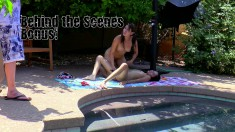 Courtney Loxx is out by the pool getting it on with her girlfriend
