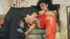 Sexy Latina takes turns doing oral and she gets her twat hammered