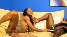 Ebony Lesbians Dive Into Their Pussies And Use Toys To Get Off