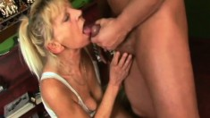 Insatiable Blonde Granny Inci Getting Nailed Deep By Libor On The Sofa