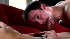 Two beautiful boys introduce each other to the pleasures of anal sex