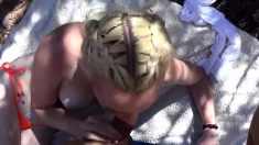 Dutch Blonde Gives Guy A Blowjob In Amateur Reality Sex