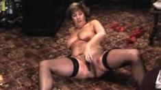 Granny Solo Playing Masturbation