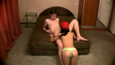 Young Teen Couple Blowjob And Fuck On Webcam