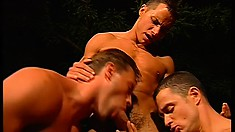 Six hot guys with awesome bodies enjoy a wild gay experience in the outdoors