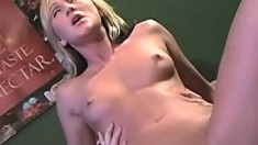 Alexis Malone gets nailed hard and finishes her man off with a handjob