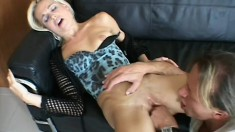 Lovely European blonde gets pussy fingered and butt pounded nicely