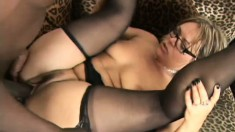 He holds slutty cougar Kelly Leigh down and drills her tight ass