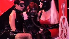 Fetish babes try out some freaky new toys on a warm willing twat